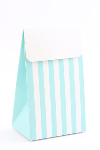 Blue Stripe Favour Box - The Little Things