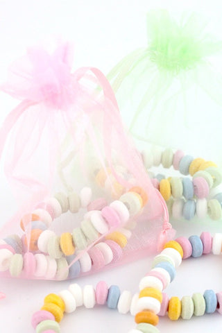 Candy Necklace In An Organza Bag