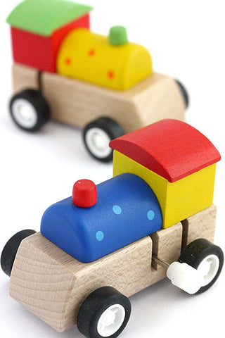 Wooden Clockwork Train  - 1