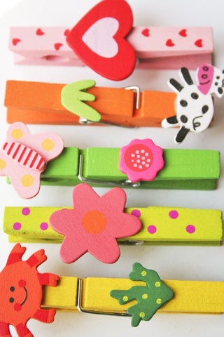Wooden Colourful Peg - The Little Things
