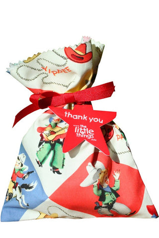 Cowboy Fabric Party Bag - The Little Things