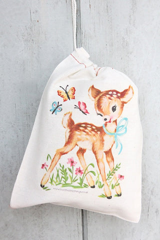 Deer Vintage Fabric Party Bag  - 1