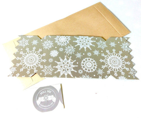 Gold Lace Christmas Cracker Card - The Little Things