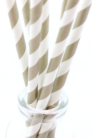 Gold Stripe Paper Straws - The Little Things