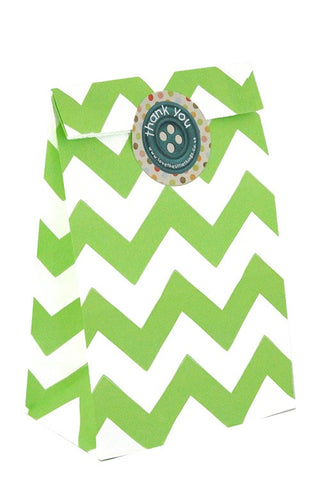 Green Chevron Classic Party Bag  - 1