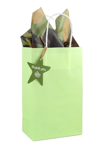 Green Luxury Party Bag With Choice Of Tissue - The Little Things