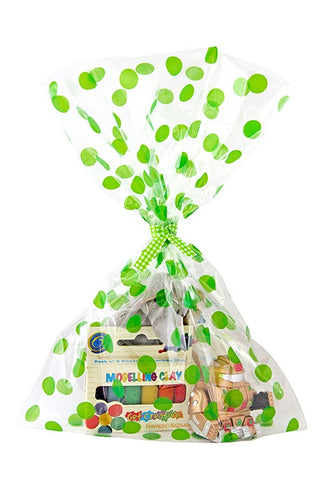 Green Spots Cello Party Bag - The Little Things