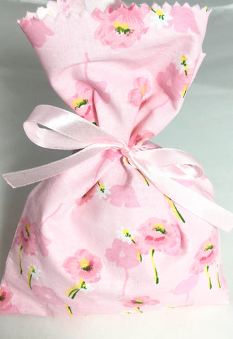 Pink Mix Fabric Party Bag (Pack of 6)  - 1