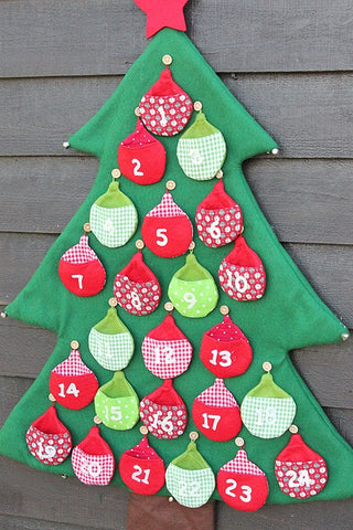 Large Felt Christmas Tree Advent - The Little Things