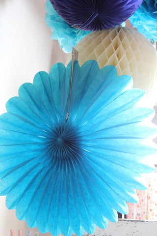 Large Teal Paper Fan - The Little Things