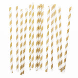 Gold Stripe Paper Straws  - 2