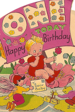 Vintage Birthday Card - One Today - The Little Things