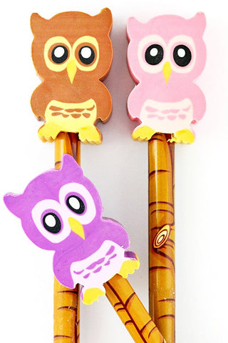 Owl Pencil with Eraser  - 1