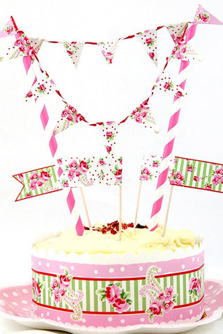 Paisley Rose Cake Bunting - The Little Things