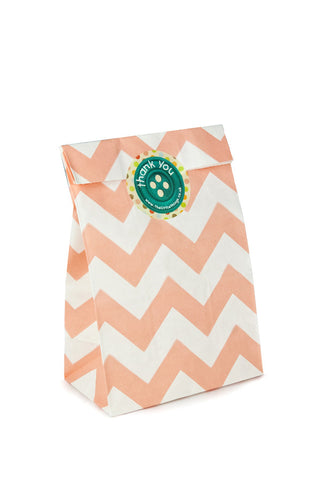 Peach Chevron Classic Party Bag - The Little Things