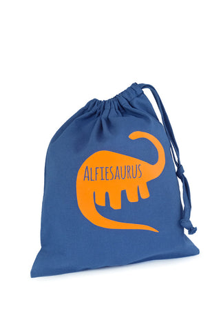 Personalised Fabric Bag Dinosaur - The Little Things