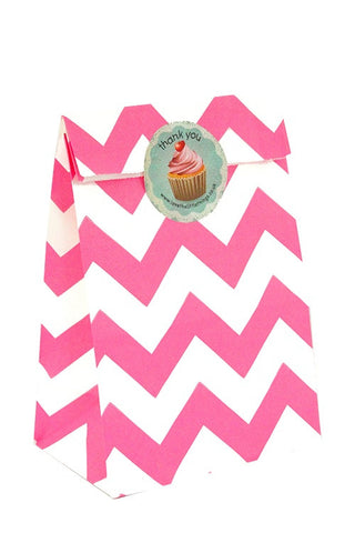 Pink Chevron Classic Party Bag - The Little Things