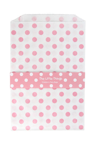 Pink Spotty Treat Party Bags (Quantity 12 )  - 1