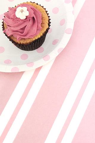 Pink Stripe Table Cover