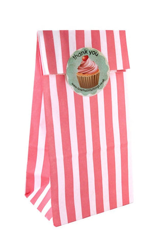 Pink Stripe Classic Party Bag - The Little Things