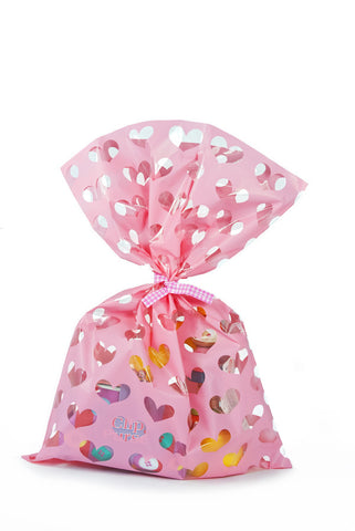 Pink Heart Cello Party Bag - The Little Things