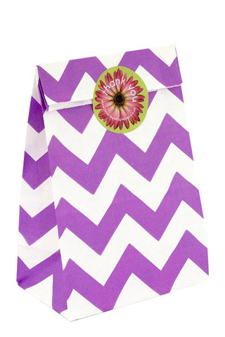 Purple Chevron Classic Party Bag - The Little Things