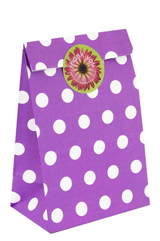 Purple Spots Classic Party Bag  - 1