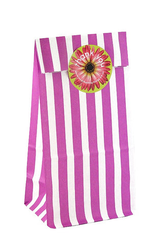 Purple Stripe Classic Party Bag  - 1