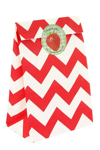 Red Chevron Classic Party Bag - The Little Things