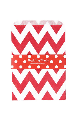 Red Chevron Treat Party Bags