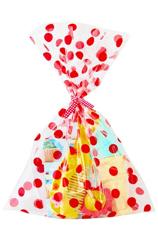 Red Spots Cello Party Bag  - 1