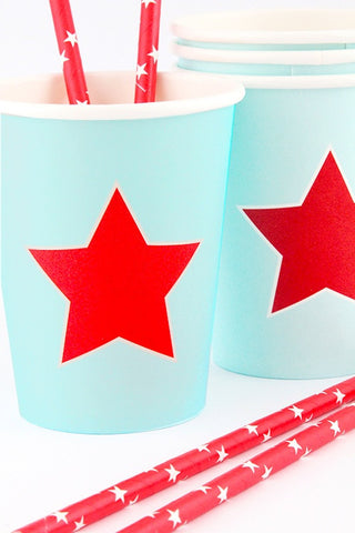 Red Star Cups (Quantity 12)  - 1