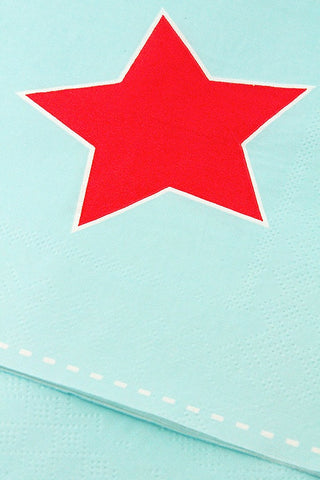 Red Star Napkins (Quantity 20)
