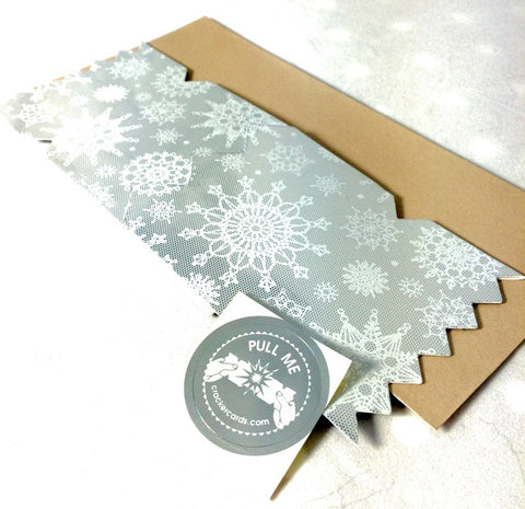 Silver Winter Lace Cracker Card - The Little Things