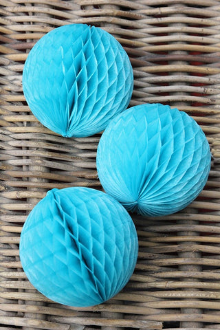 Small Ocean Blue Honeycombs (Quantity 3) - The Little Things