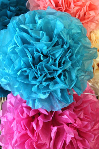 Small Ocean Blue Pom Pom - The Little Things
