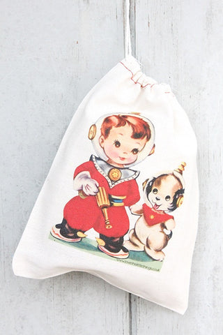 Spaceboy Vintage Fabric Party Bag  - 1