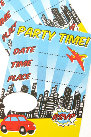 Superhero Party Invitations (Quantity 10) - The Little Things