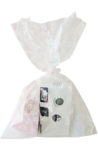 White Flowers Cello Party Bag - The Little Things