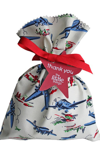 Wild Blue Yonder Fabric Party Bag - The Little Things