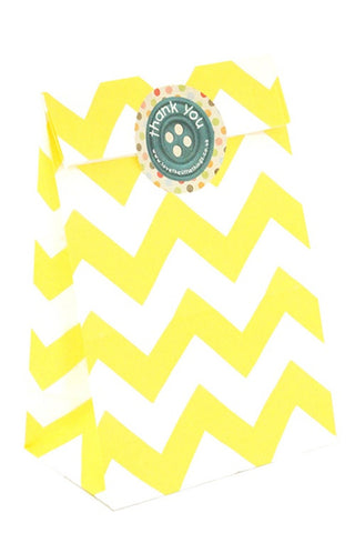 Yellow Chevron Classic Party Bag - The Little Things