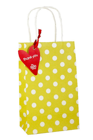 Yellow Luxury Spots Party Bag - The Little Things