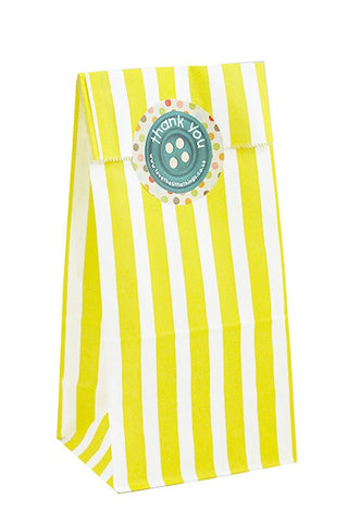 Yellow Stripe Classic Party Bag - The Little Things
