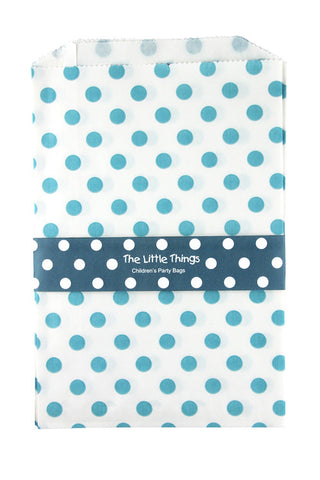 Blue Spotty Treat Party Bags (Quantity 12)  - 1