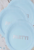 Blue and Silver Plates (Quantity 8) - The Little Things
