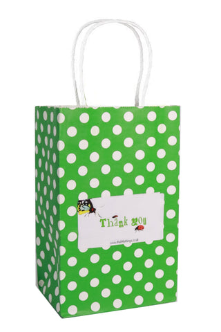 Bugs Green Spotty Party Bag