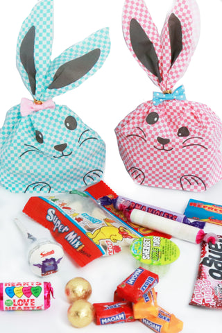 Pre Filled Sweet Bag - Chequered Bunny Bags - The Little Things