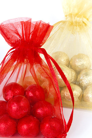 Chocolate Foil Balls in an Organza Bag - The Little Things