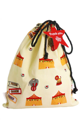 Circus Print Fabric Party Bag
