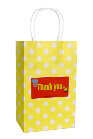 Circus yellow Spotty Party Bag
